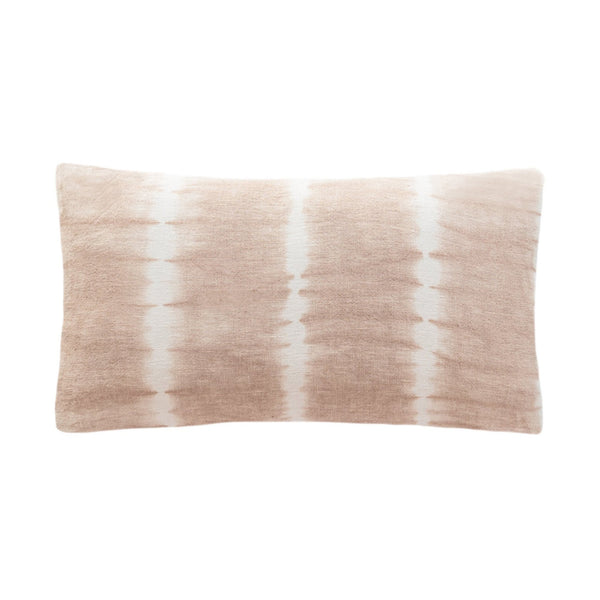 Dahlia Blush Tie Dye Linen Pillow