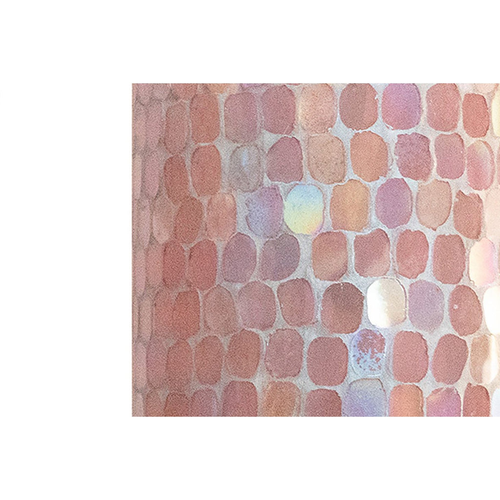 Cassis Pink Mosaic Votive Holder, close-up view