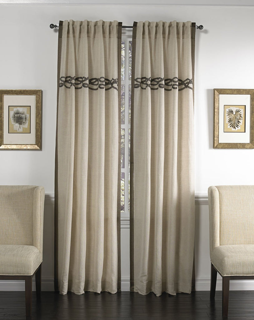 Belle Panel Curtains, extra long, front view, lifestyle view