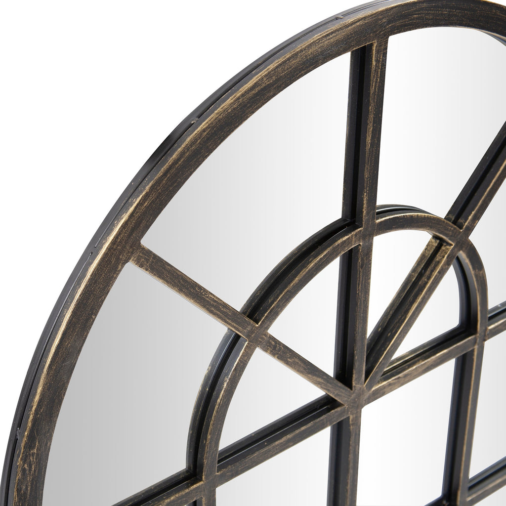 Tailored Oil-Rubbed Bronze Mirror, close-up view