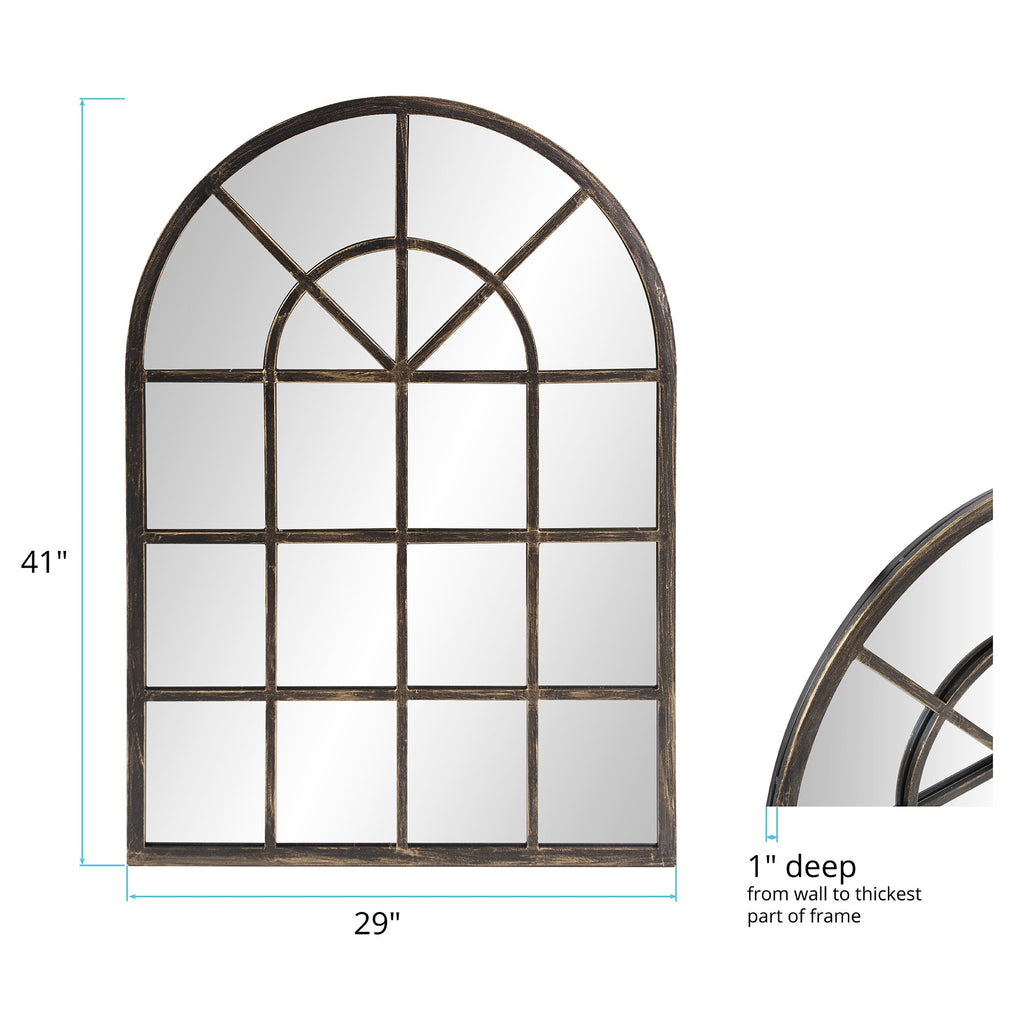 Tailored Oil-Rubbed Bronze Mirror, dimensions and measurements