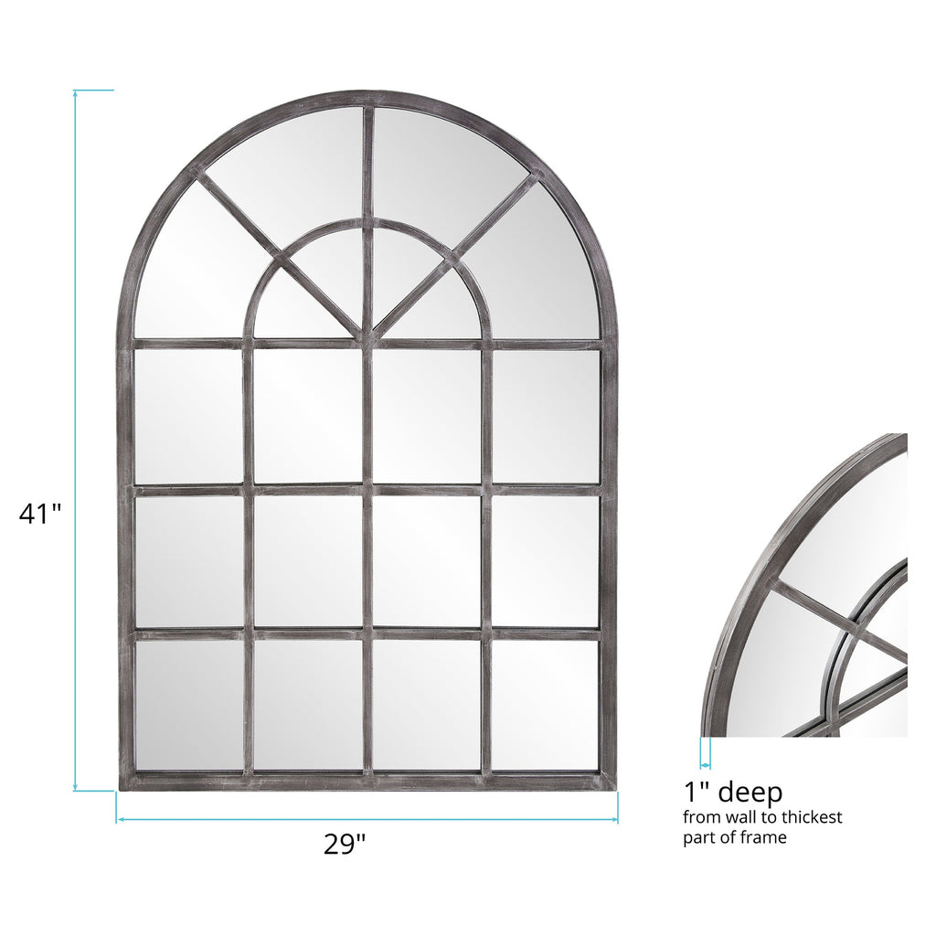 Tailored Antique Silver Mirror, dimensions and measurements