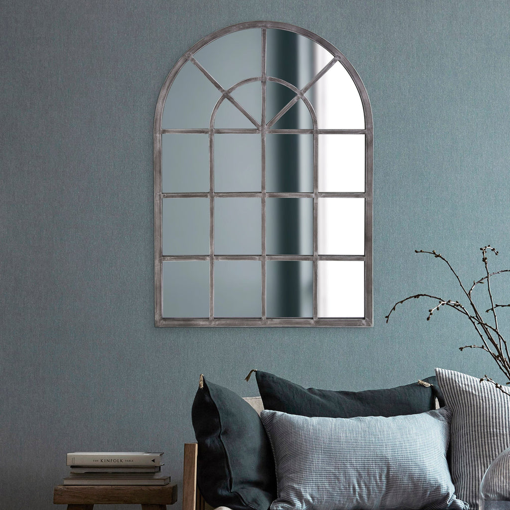 Tailored Antique Silver Mirror, lifestyle view