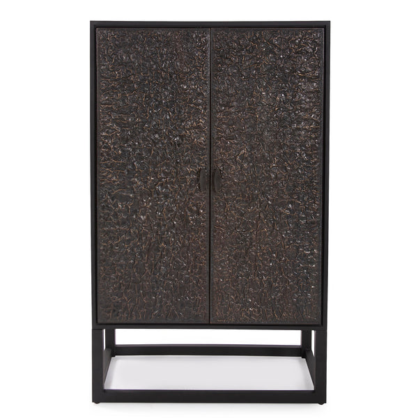 Celeste Tall Bar Cabinet, front view