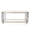 Jackson Brass Console Table, front view