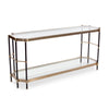 Jackson Brass Console Table, angled view
