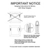 Flora Camellia, hanging instructions