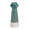 Large Corsica Ceramic Candle Holder, front view