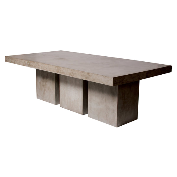 Gray Losa Dining Table, angled front view