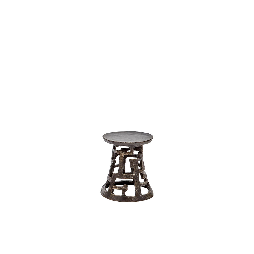 Small Huangdi Bronze Pillar Holder, front view