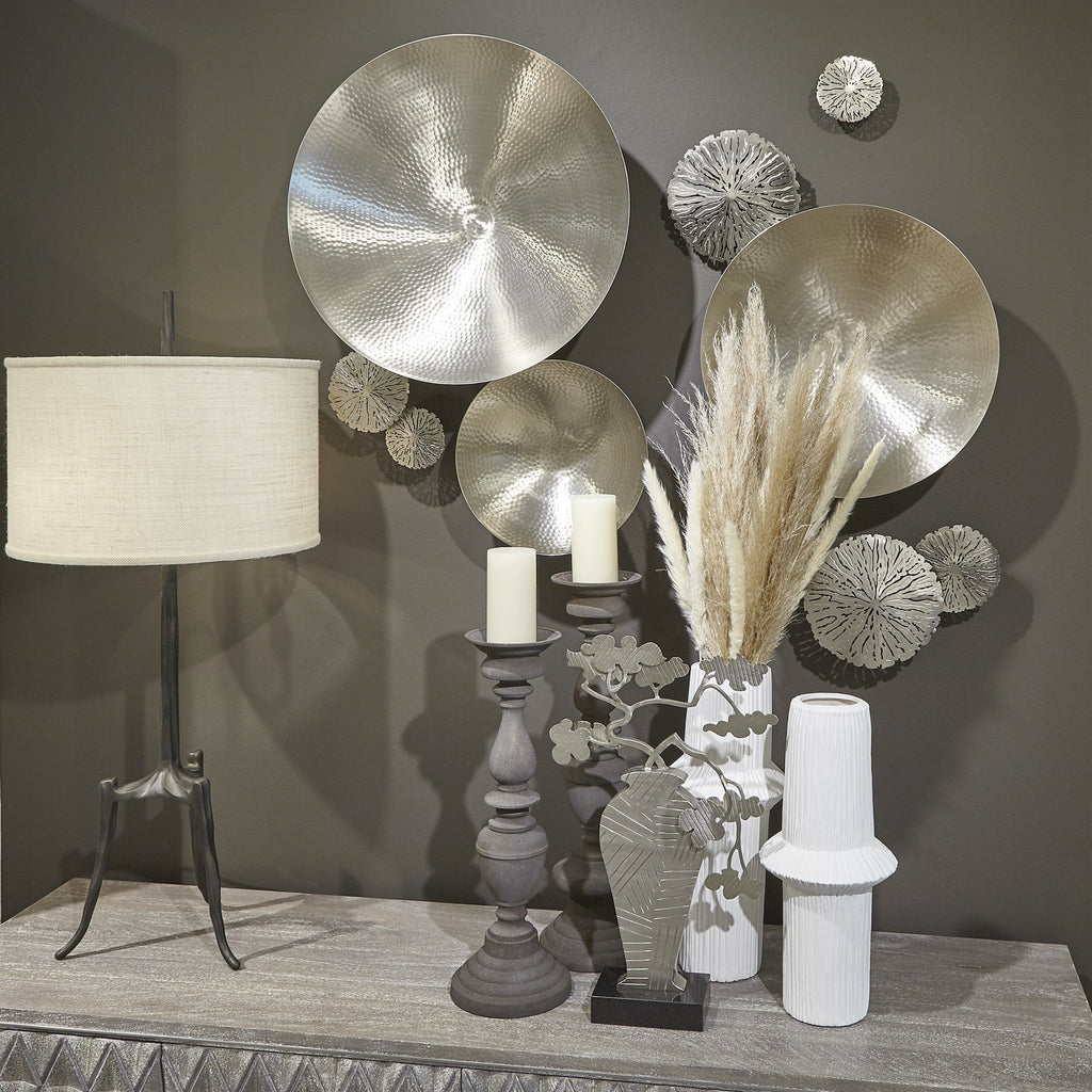 Antique Nickel Lakshmi Wall Bowlss, lifestyle view