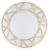 Brushed Gold Icon Mirror, front view