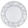 Brushed Silver Icon Mirror, front view