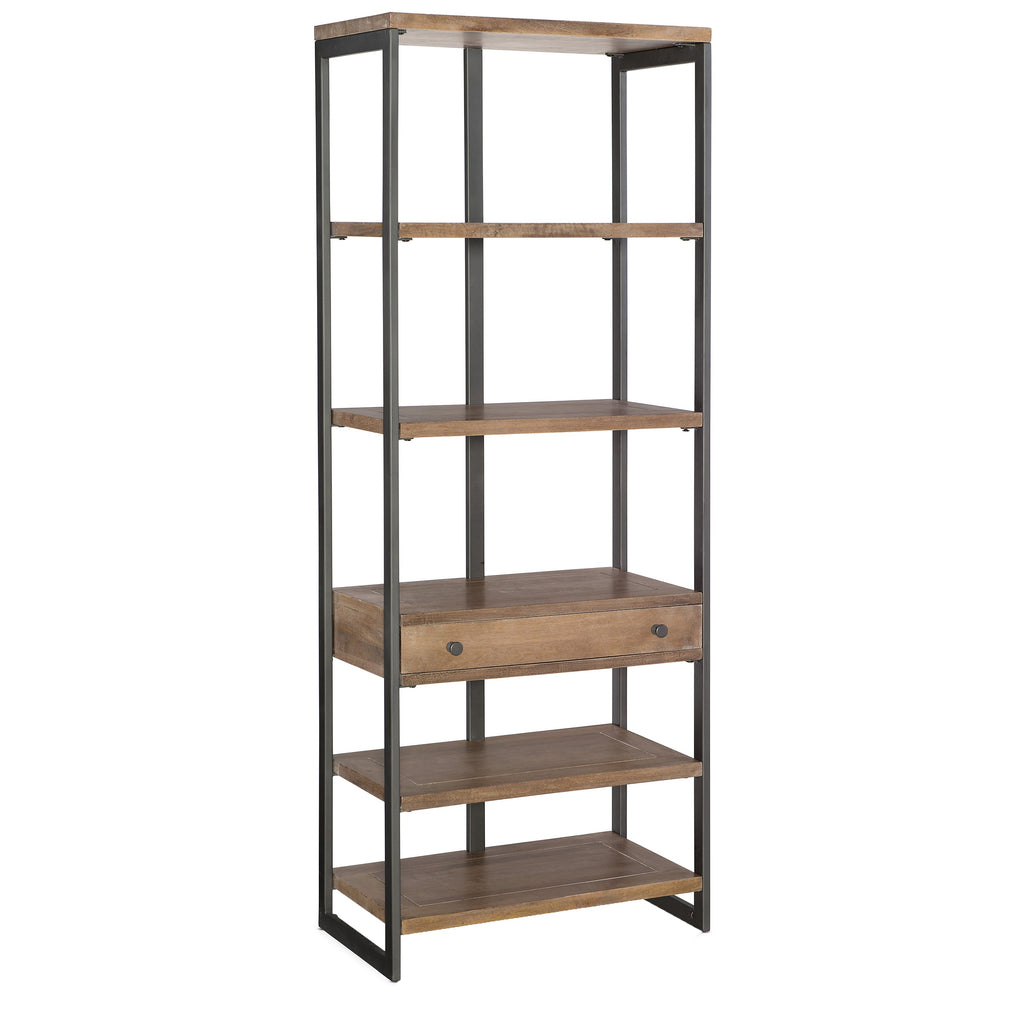 Elbe Bookcase, angled front view