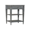 Elnok One-Drawer Nightstand, angled front view