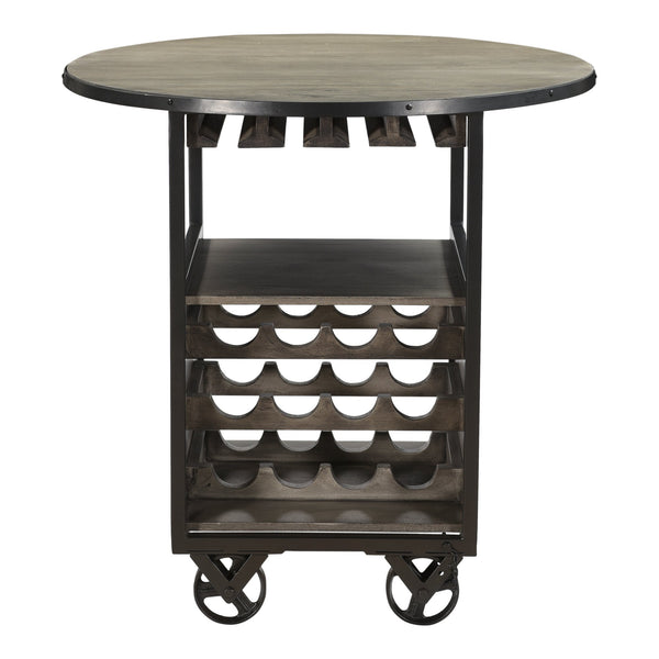 Syrah Wine Bar Cart, front view