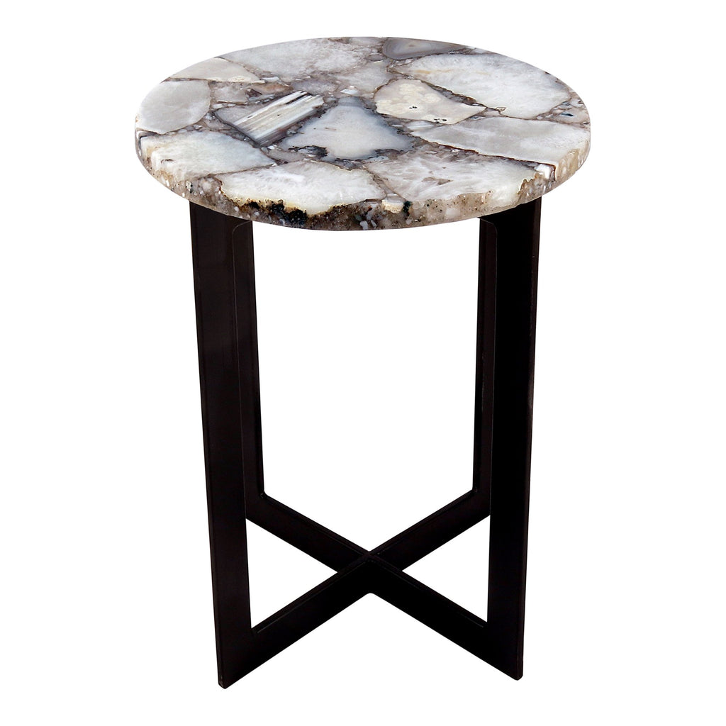Quartz Accent Table, front angled view