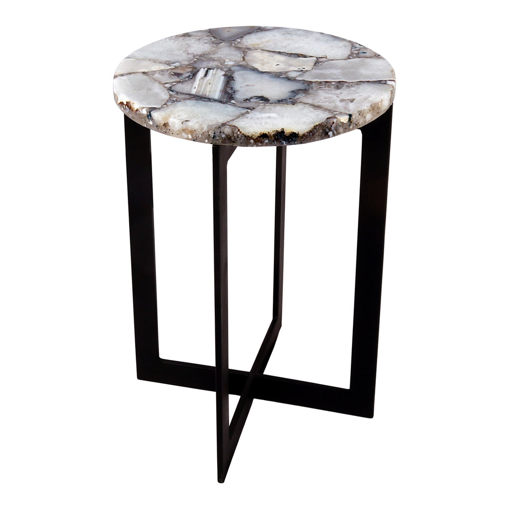 Quartz Accent Table, side angled view