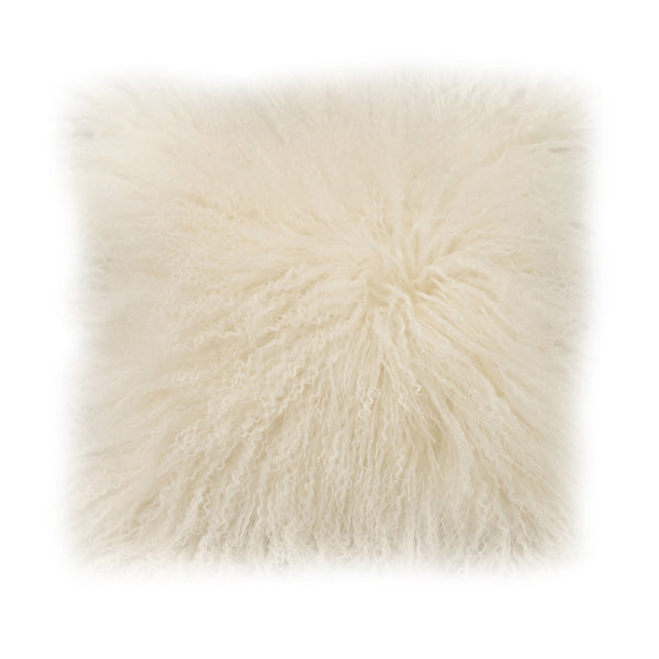 White Laine Pillow, front view