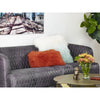 11x19 Orange Laine Pillow, lifestyle view