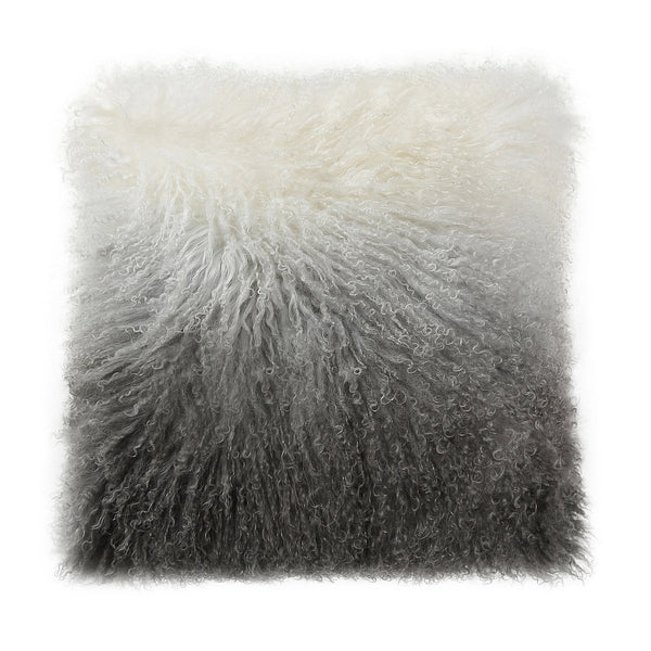 Gray Ombre Armonizzare Throw Pillow, front view