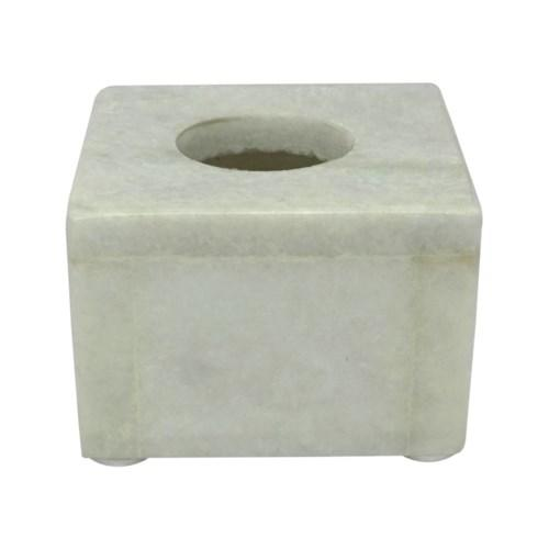 Small Marble Arzana Candle Holder, front view