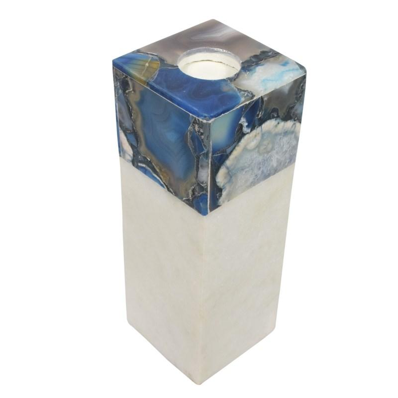 Tall Agate Arzana Candle Holder, Top Angled view