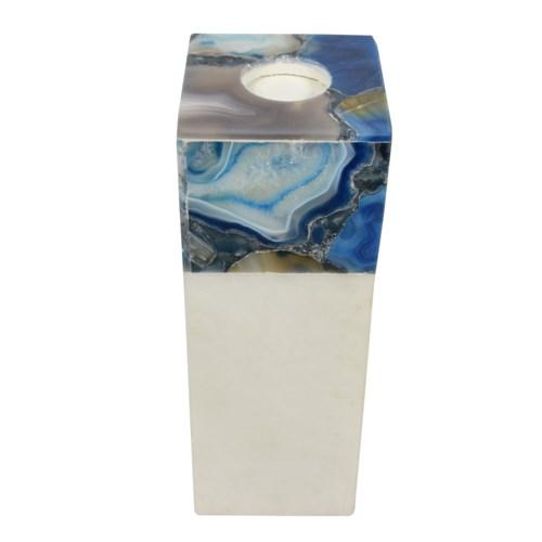 Tall Agate Arzana Candle Holder, angled view