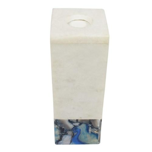 Tall Marble Arzana Candle Holder, angled view