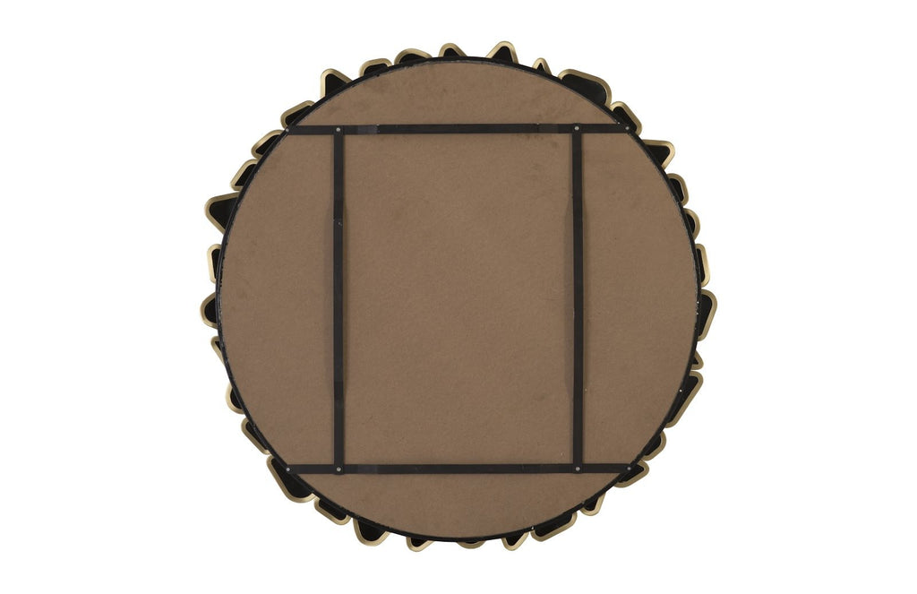 Round Cobbled Frame Mirror, back view