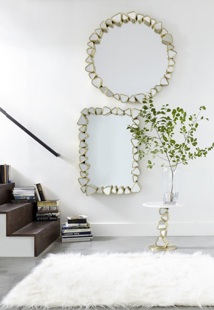 Round Cobbled Frame Mirror, lifestyle view