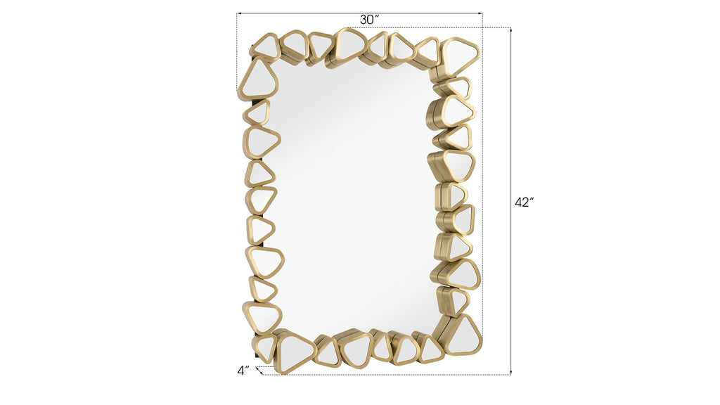 Rectangular Cobbled Frame Mirror, dimensions and measurements