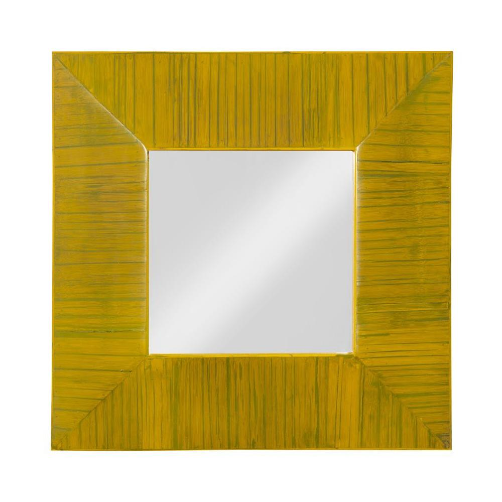 Lined Bamboo Mirror, front view