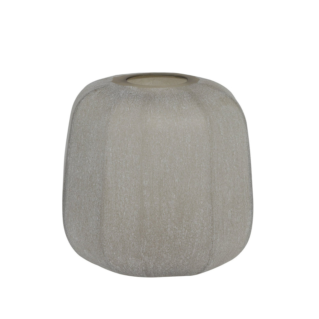 Light Brown Small Urch Vase, front view