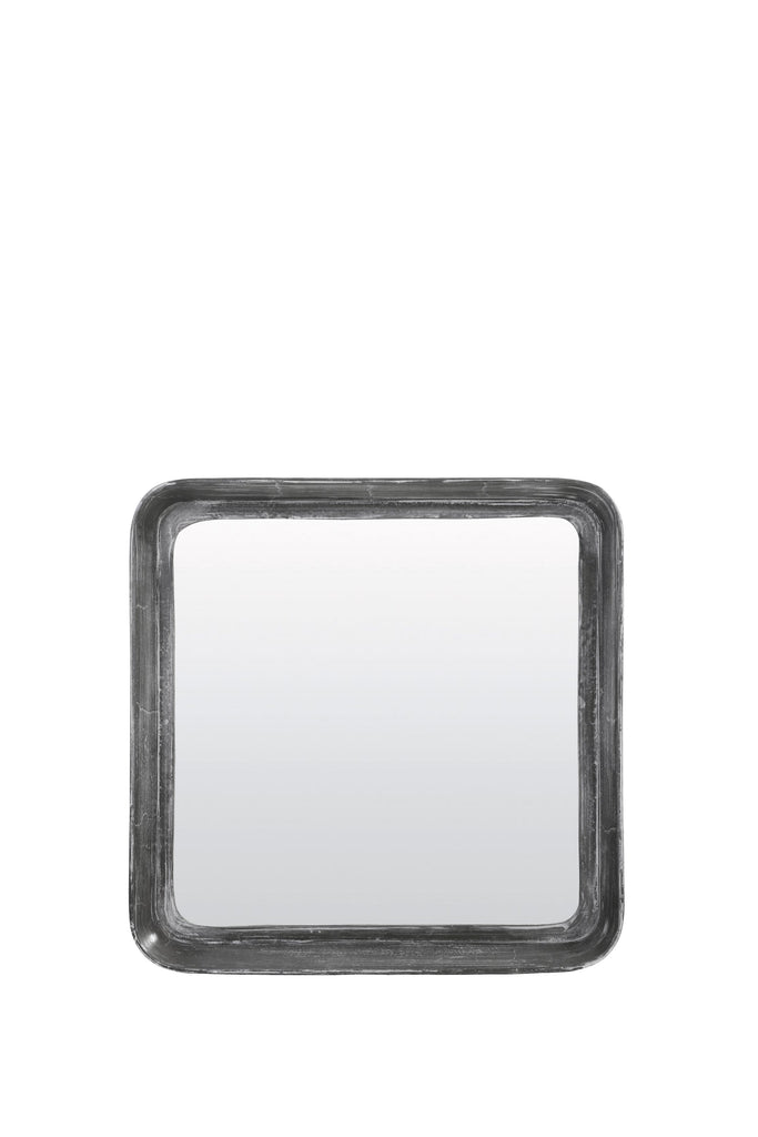 Powder Gray Square Badu Mirror, front view