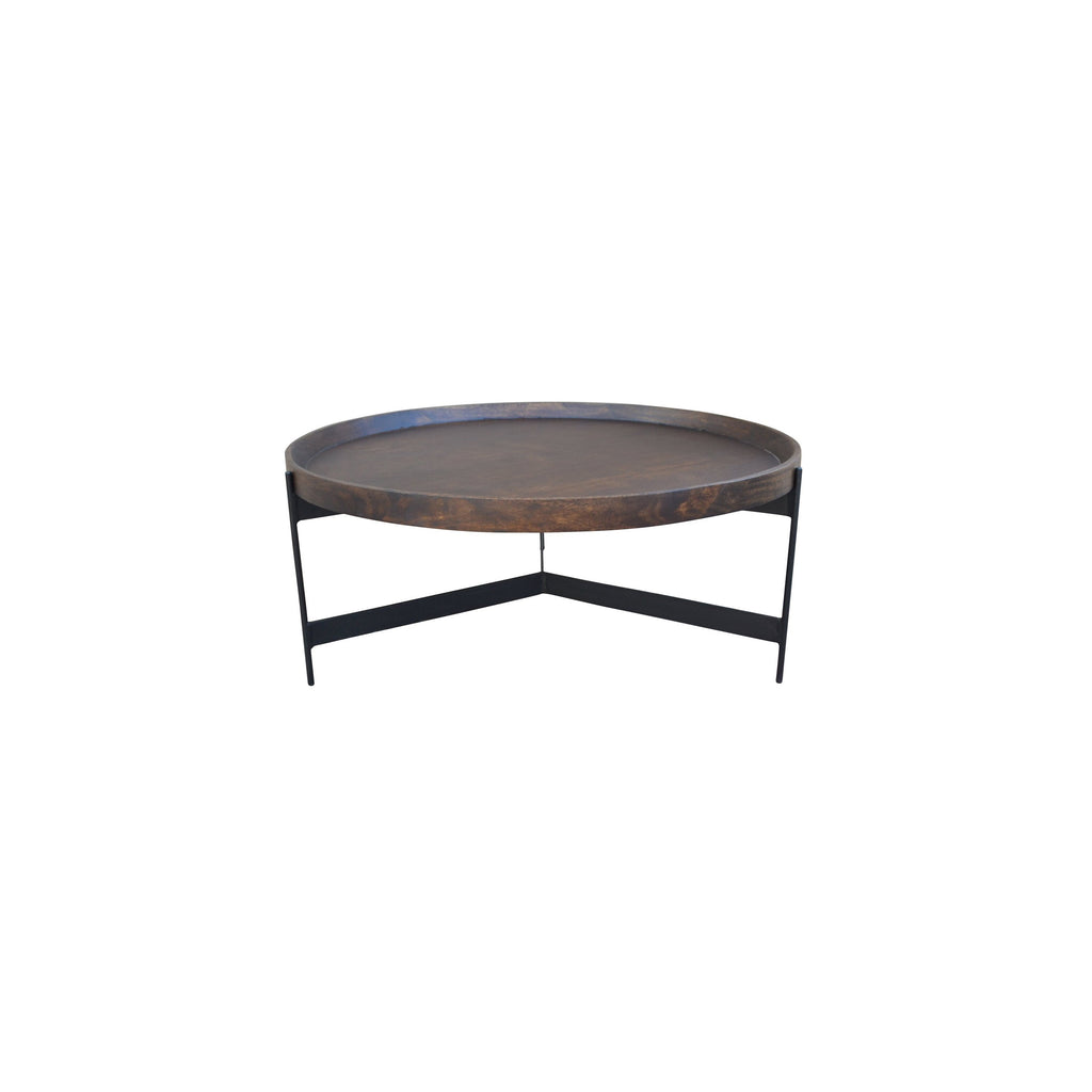 Moneda Coffee Table, top angled front view