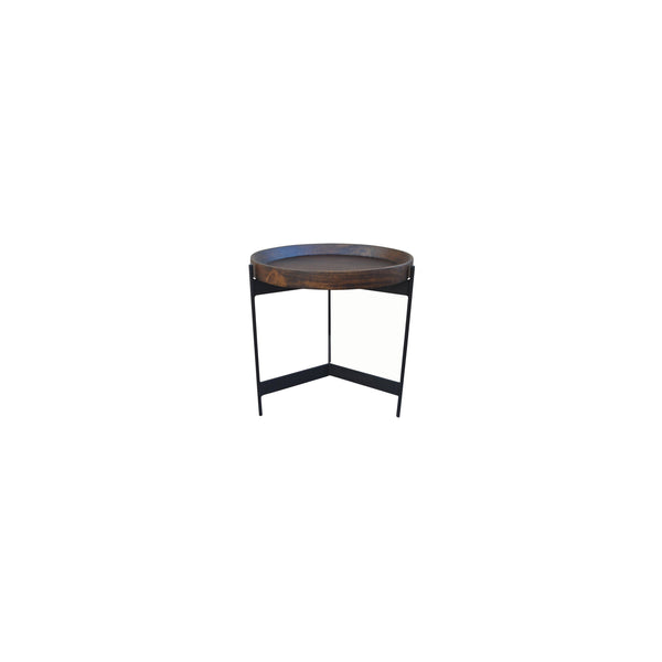 Moneda Side Table, top angled front view