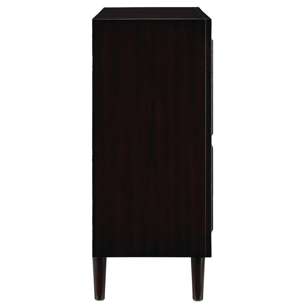 Medici Charcoal Okno Cabinet, side view