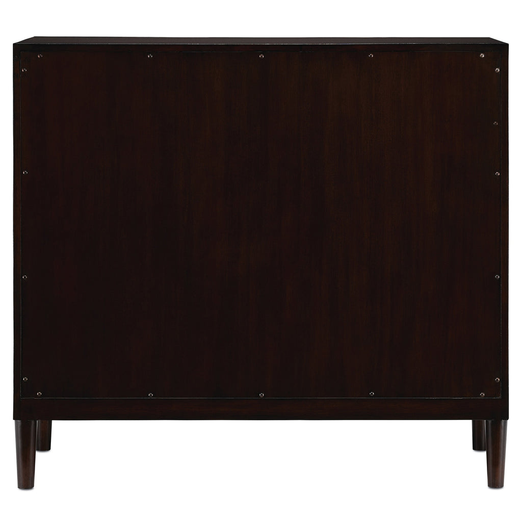 Medici Charcoal Okno Cabinet, back view