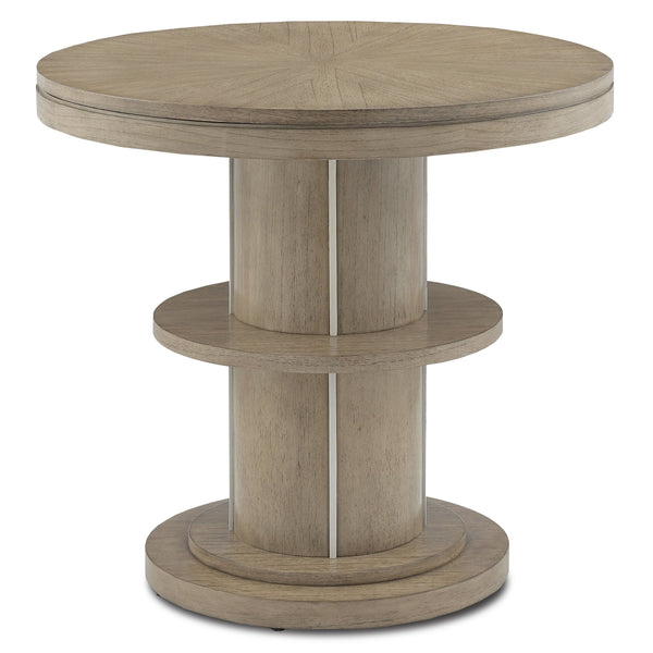 Mindi Wood End Table, front view