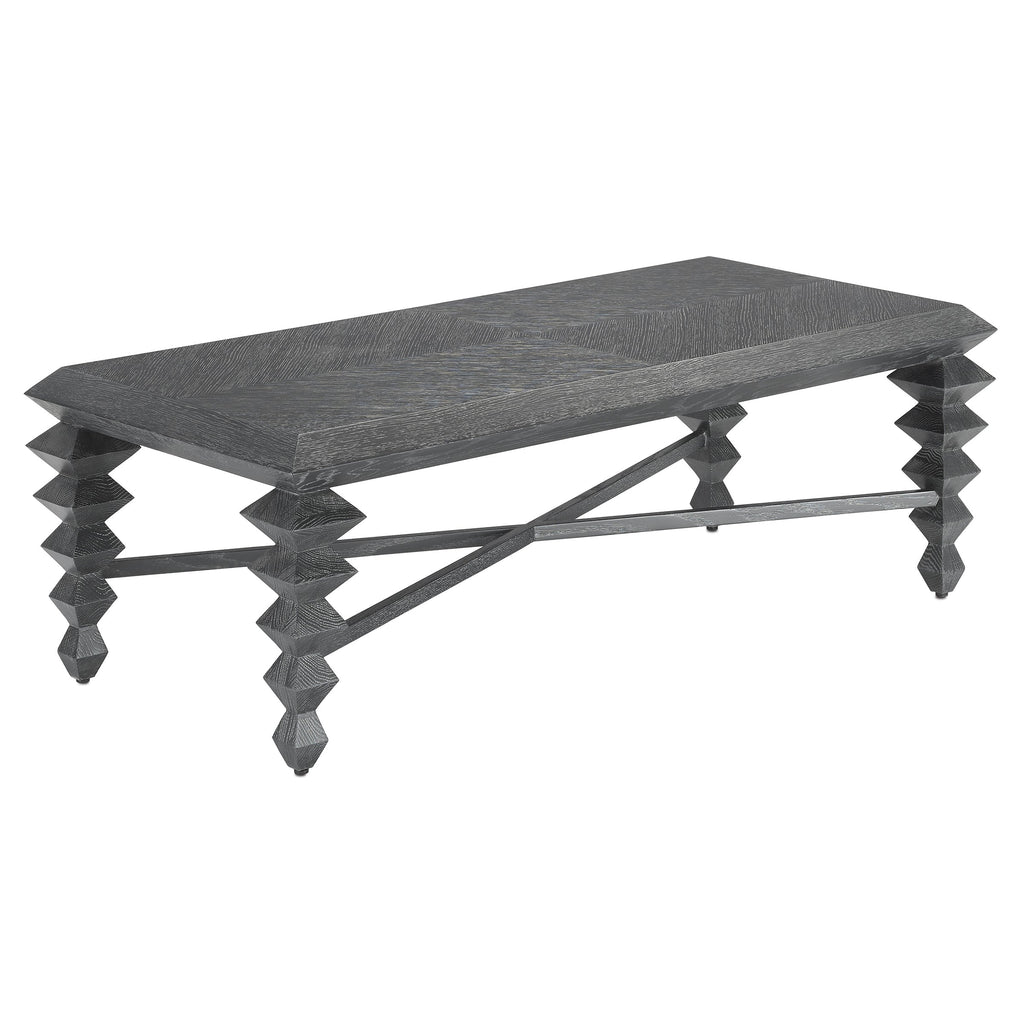 Dark Natural Cocktail Table, side view