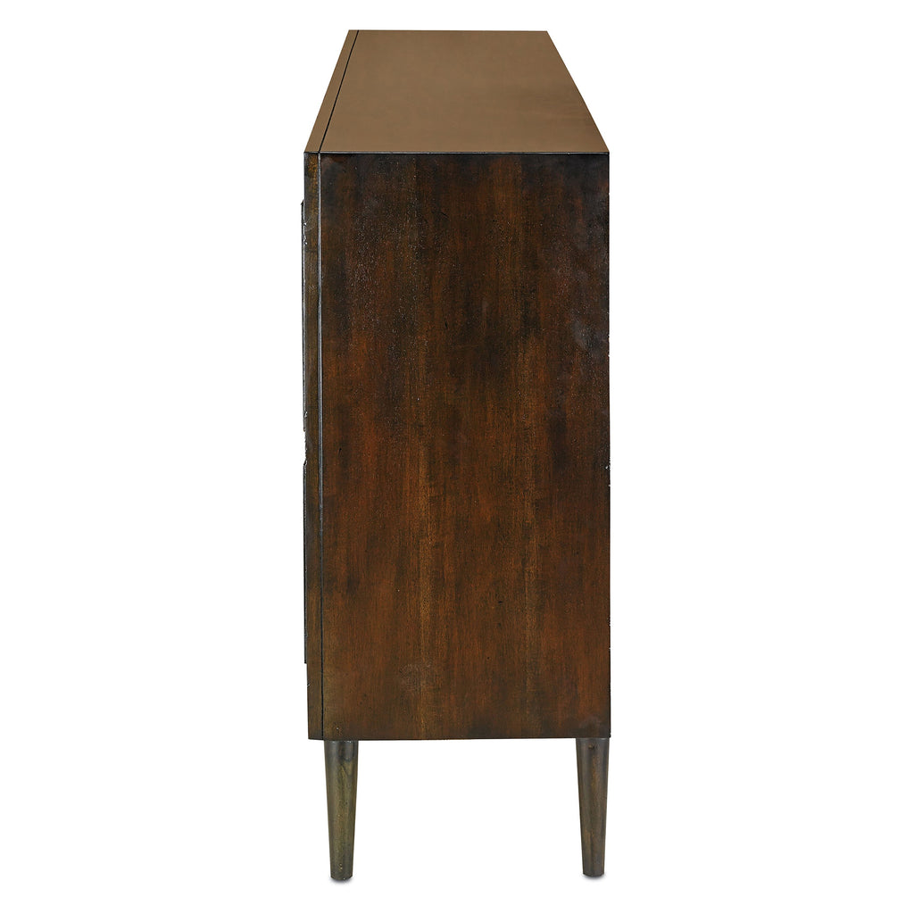 Medici Charcoal Okno Credenza, side angled view