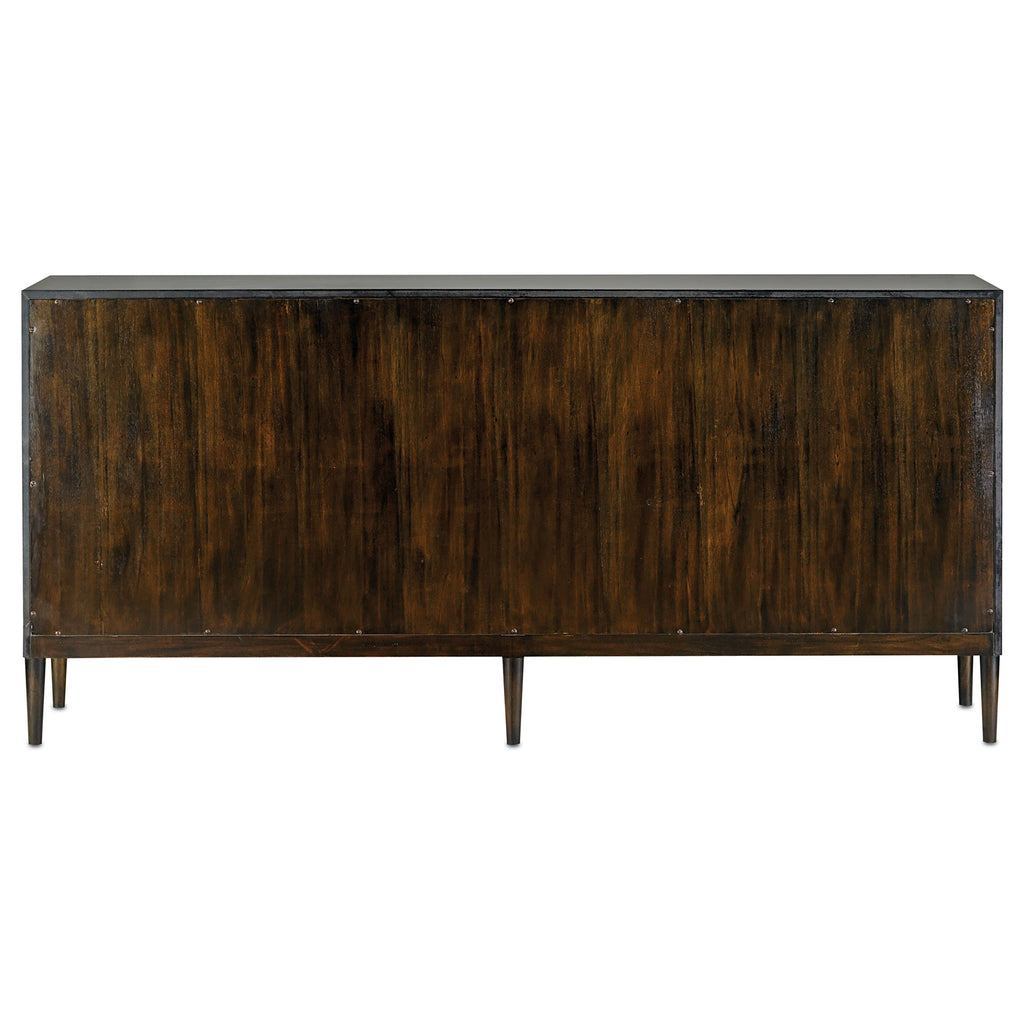 Medici Charcoal Okno Credenza, back view