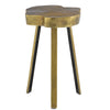 Brass Charming Wood lands Table, front view