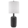 Atlas Table Lamp, front view, light on view