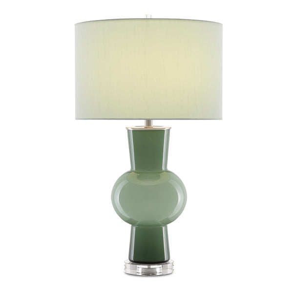 Moss Table Lamp, front view lights on