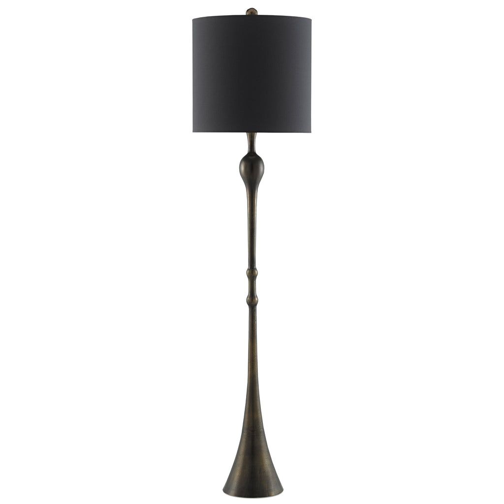 Banya Floor Lamp, front view, light off view