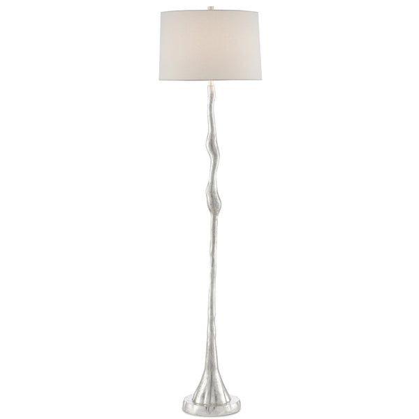 Floe Floor Lamp, front view, light on view