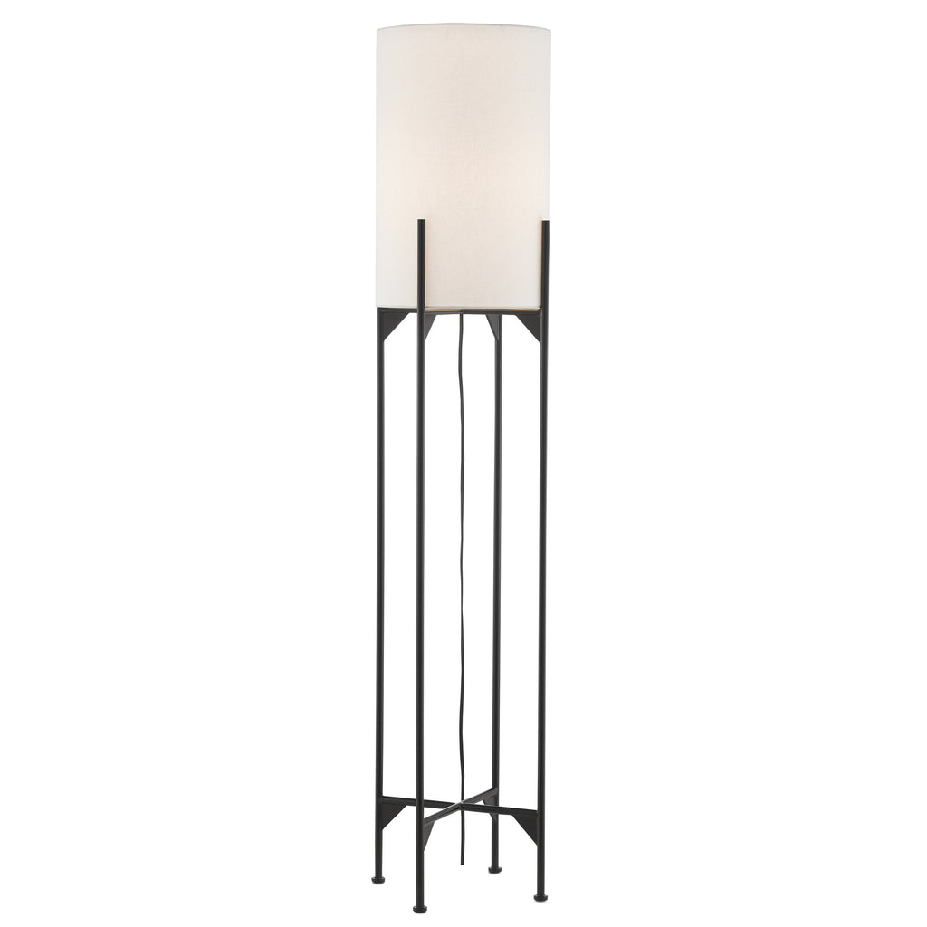 Linterna Floor Lamp, front view, light on view