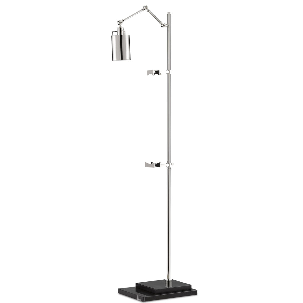 Satin Floor Lamp, angled front view